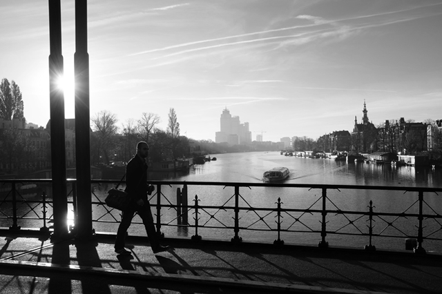 stadslandschap, Amstel, Amsterdam, uitzicht
