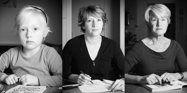 Drie generaties - Annika, Karin, Greet