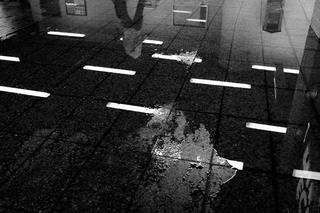 amsterdam, metrostation, weesperplein, weerspiegeling