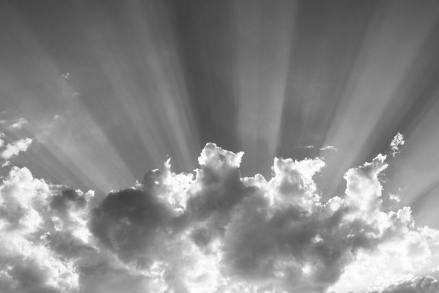 wolken, zon, zonnestralen