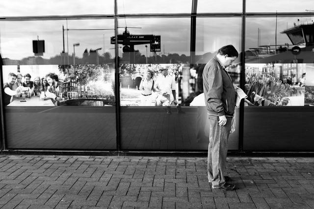 Straatfotografie, Amsterdam, De Ruijterkade, streetphotography