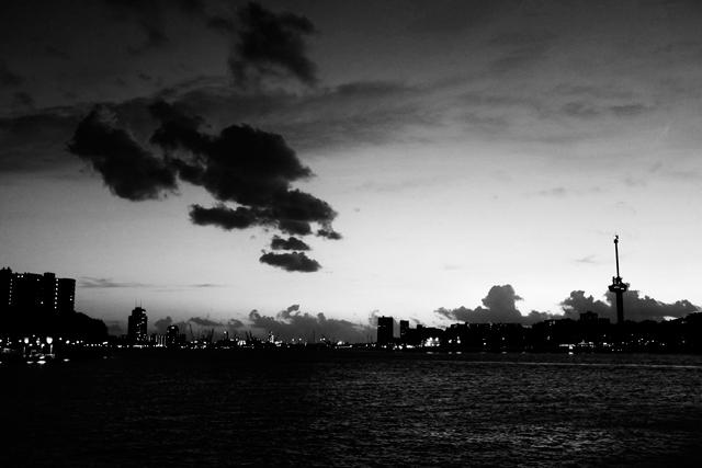 stadslandschap, Rotterdam, kop van zuid, hotel new york