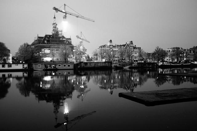Stadslandschap, Amstel, Amsterdam, Weesperzijde