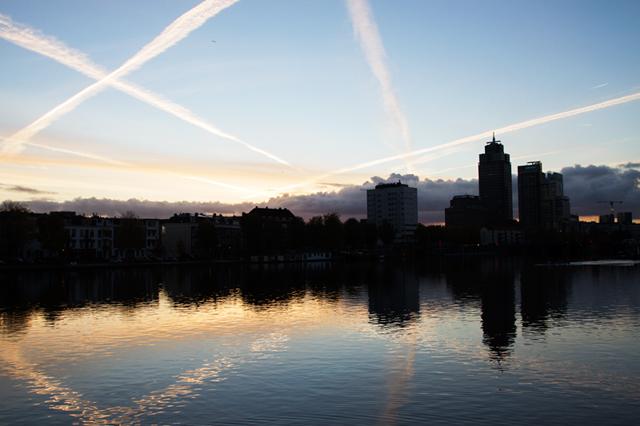 Stadslandschap, Amstel, Amsterdam, Weesperzijde, Amsteldijk