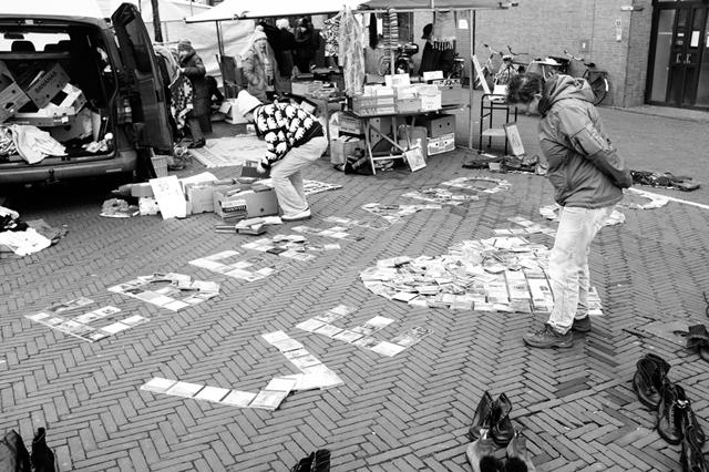 straatfotografie, Amsterdam, Waterlooplein, stadhuis