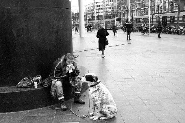 straatfotografie, Den Haag, Spui, Kalvermarkt