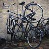 fietsen, Amstelstation, dubbel geparkeerd
