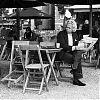 koffie, terras, ochtendkrant, museumplein