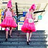 roze, straatfotografie